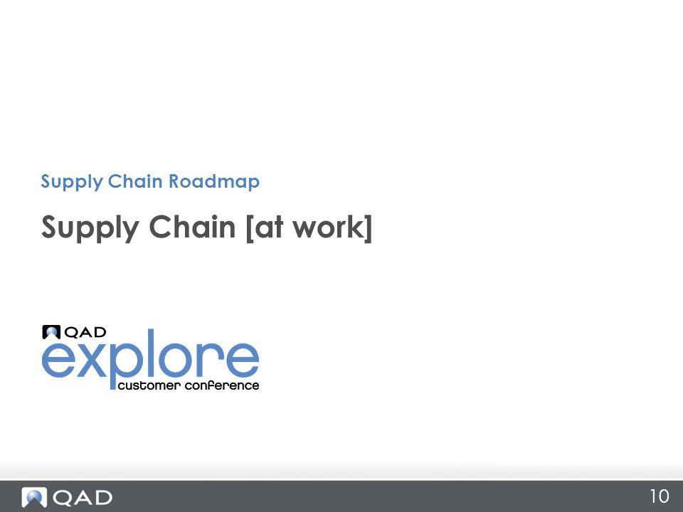 Supply Chain Roadmap Supply Chain [at work]